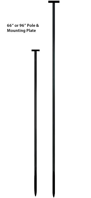 "66"" or 96"" Pole with 3 x 5 Plate"