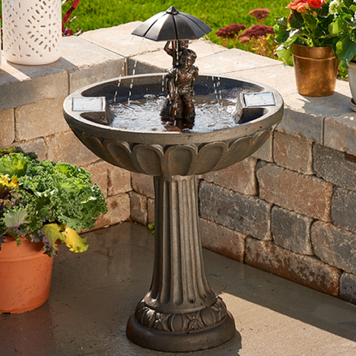 Summer Play Solar Bird Bath