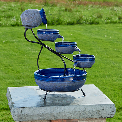 Blueberry Ceramic Solar Cascade
