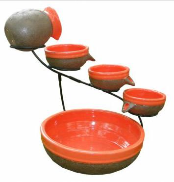 Tangerine Ceramic Solar Cascade