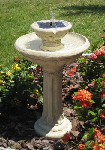 Duncraft Com Kensington 2 Tier Solar Bird Bath