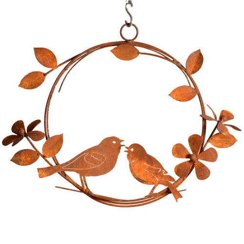 Rustic Singing Birds Wreath