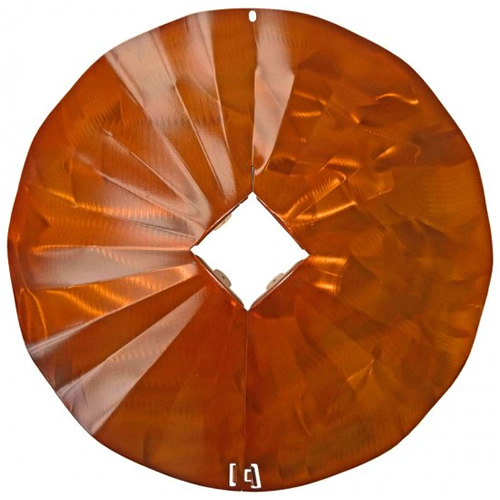 4 x 4- Disk Squirrel Baffle - Copper Tint