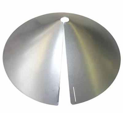 Economical 17- Cone Squirrel Baffle - Galvanized