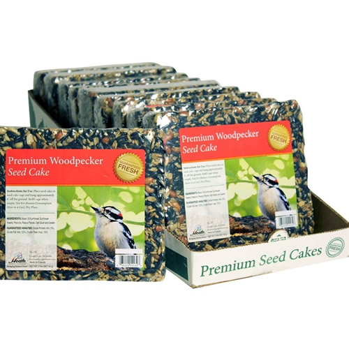 Premium Woodpecker Seed Cake, Set of 10