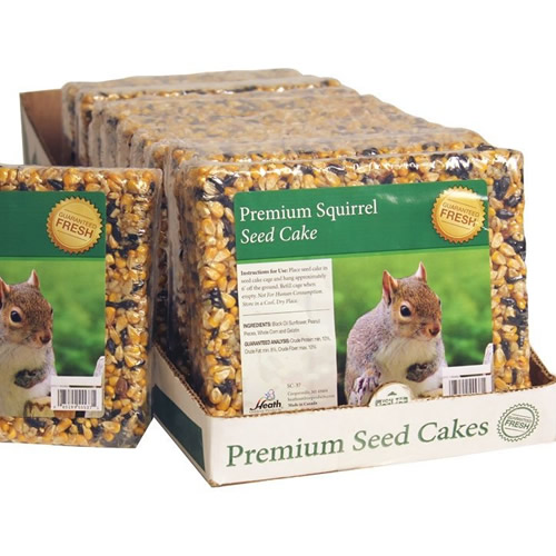 Premium Squirrel Blend Seed Cake, Set of 10