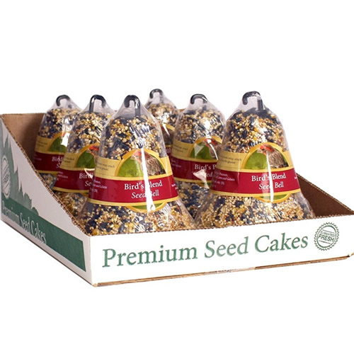 Premium Bird's Blend Seed Bell, Set of 6