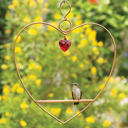 Tweet Heart Birdie Swing Copper Colored