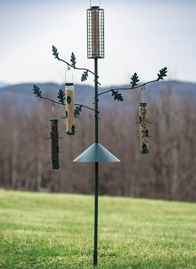 Tree Bird Feeding Station Pole and Baffle