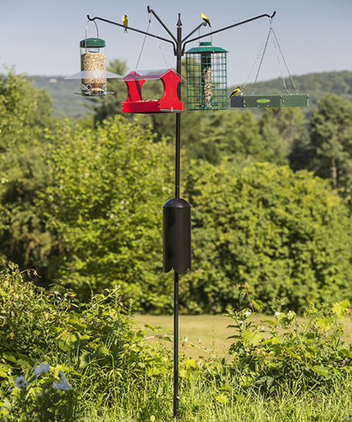 Squirrel-Proof Four Arm Bird Feeding Station