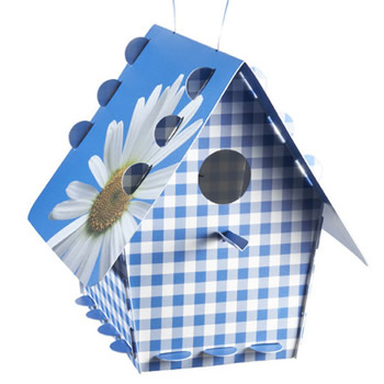 Tweet Home Blue Gingham