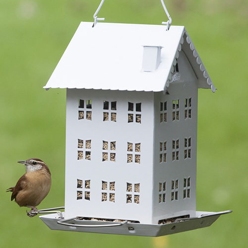 White Farmhouse Bird Feeder (WFH001 Woodstream) photo