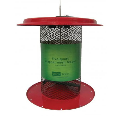 Magnet Mesh 5 Quart Sunflower Feeder - Red