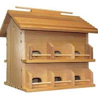 wood purple martin house starling resistant - Purple Martin Houses