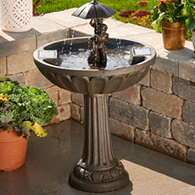 summer play solar bird bath