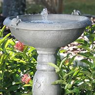 country garden solar bath